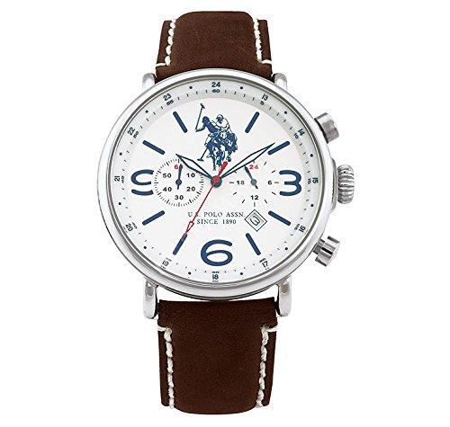 US Polo Association Reloj Analógico para Hombre de Cuarzo con Correa en Caucho USP4252SL