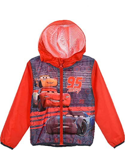 Disney cars giacca impermeabile bambino k-way 1143 (6 anni, red)