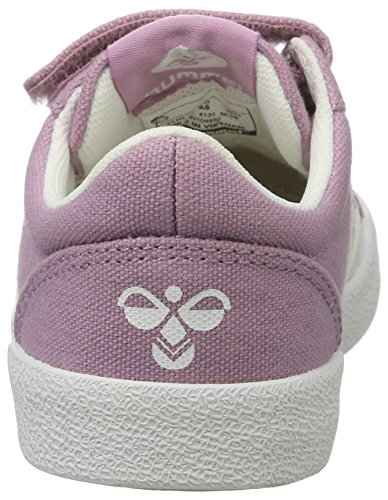Hummel Deuce Court Jr, Sneakers Basses Fille Rose (Orchid Hace)