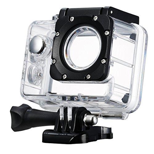 Actioncam Unterwassergehäuse,Vtin bis zu 98ft 30 m Unterwasser Gehäuse Wasserfestes Gehäuse Schutztasche Schutzhülle Kamera Zubehör für SJ4000 und SJ4000 WIFI Kamera-Action-Kamera