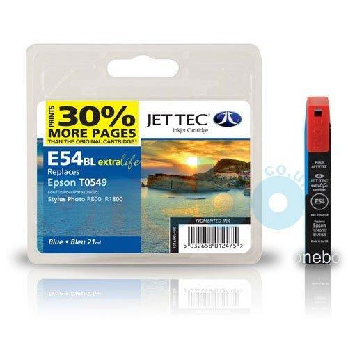 JET TEC Tinte für EPSON Stylus Photo R800 R1800, blau
