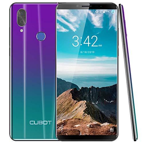 "CUBOT X19 2019 Octa-Core Smartphone Libre 4G Android 9.0 4GB RAM+ 64GB ROM 18:9 5.93"" FHD+ 2160x1080 Dual SIM, Cámara 20Mp+2Mp 4000mAh Sensor de Huella GPS + Giroscopio Cable Type C Crepusculo"