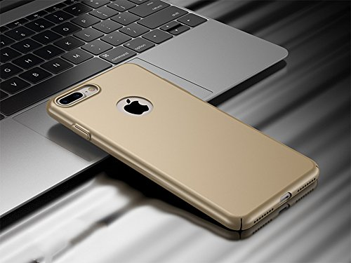 Coque Dur pour iPhone, Ultra-Slim Case Housse Protection | Étui Bumper Cover Mince Anti-Choc Léger Or