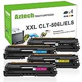 Aztech 4 Pack XXL Kompatibel für Samsung CLT-K506 CLT-C506 CLT-M506L CLT-Y506L ELS Toner für Samsung CLP 680nd CLX-6260fw Toner Samsung CLX 6260fw 6260fr 6260nd 6260fd CLX-6260fd CLX-6260nd CLP-680nd