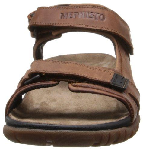 Mephisto Brice Cuir Sandale de Sport Noisette
