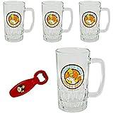 4 x Simpsons BIERGLAS 0,5L + 1x Flaschenöffner Bier Biergläser 500ml