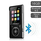 Puersit - Lettore MP3 da 16 gb, hi-fi, Bluetooth, 50 ore di riproduzione, portatile, compressione file audio senza perdita