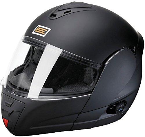 Origine Helmets Techno Flip-Up Casco Moto, Negro Mate, L