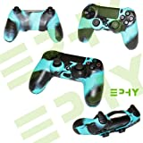 Brand New Camouflage Silicone Protection Rubber Bumper Cover Case Skin for Sony PS4 PS Playstation 4 Dual Shock Controller (Blue Camo)