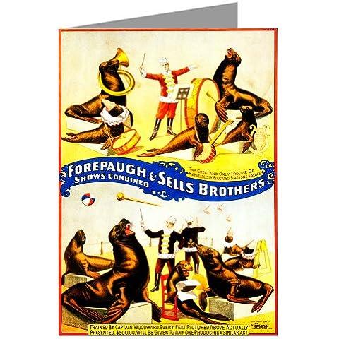Nota per schede Set di circo Poster