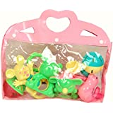 Gurukripa New Born Baby Cute & Attractive Dugi Dugi Rattle Set Sweet Cuddle Infant Non Toxic Set Of 6 Pcs Of JhunJhuna Lovely Mixed Colour Ful For Babies Girl And Boy Unisex Teethers Gift Set Toy With Attractive Figures Set Of 6