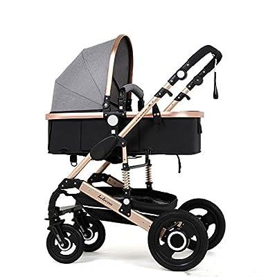 Aleación de aluminio para cochecitos de bebé Ultra liviana puede sentarse y descansar Impulso Implementación bidireccional del cochecito de bebé