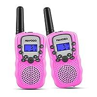 Miavogo Walkie Talkie Kids - 2 Way Radio Toy Walkie Talkies 8 Channels with Flashlight, PMR446 Long Range Walky Talky for Girls Hiking Camping Biking, Pink