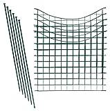 Teichzaun Set / Komplettsett in versch Verpackungseinheiten und versch Formen (5x Unterbogen, Grün)