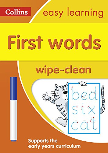 First Words Age 3-5 Wipe Clean Activity Book (Collins Easy Learning Preschool)