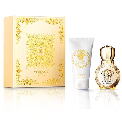 Versace Eros pour Femme Set 30 ml EdT + 50 ml Body Lotion Limitierte Edition - Versace Natural Spray