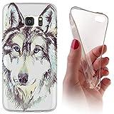 Samsung Galaxy J3 (Modell 2016) J320 Softcase Hülle Galaxy J3 (Modell 2016) J320 Cover Backkover Softcase TPU Hülle Slim Case für Samsung Galaxy J3 (Modell 2016) J320 (1010 Wolf)