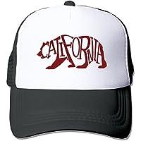 hittings California Grizzly Mesh da adulto, unisex One Size snapback Trucker Hats Black