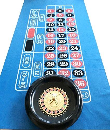 Massive Roulette Rad + große Roulette Filz/Layout + Bälle