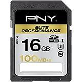 PNY Carte Mémoire SDHC Elite Performance - 16 Go Classe 10 UHS - 1 U3 100 Mb/s