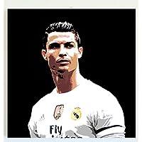 CRISTIANO RONALDO ( Real Madrid Club de Fútbol / Nazionale di calcio del Portogallo ) QUADRO MODERNO - DIPINTO A MANO POP ART EFFECT (formato 40 x 40 cm)
