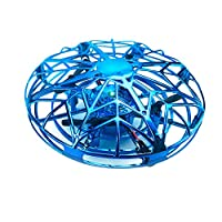Lixada ZYS UFO 360° Rotatable Air Vehicle Flying Helicopter Toy with Attractive Light Design Remote Control Sensitive Infrared Induction Sensor USB Charging Built-in High Rechargeable Battery