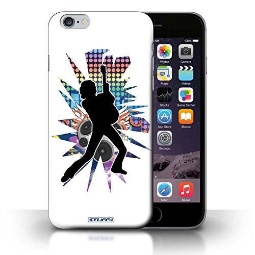 KOBALT® Hülle Case für iPhone 6+/Plus 5.5   Windmill Schwarz Entwurf   Rock Star Pose Kollektion Lehnen Weiß