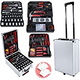 Generic .rs T Rollen, Werkzeugkoffer, 2 Schlüssel, Rollen, Too Kits Box Koffer Org Tool Set Mechaniker Box C Koffer Organisieren ol Set MEC