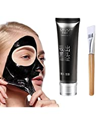 AMTOK Bambuskohle Mitesser Maske Reinigungsmaske Tiefenreinigende Peel Off Schwarz Gesichtsmaske (80g)