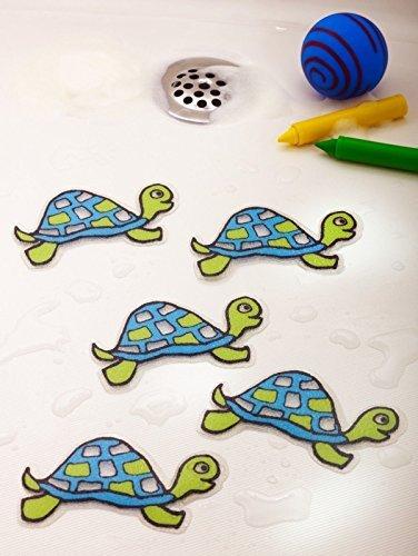 Bathtub Stickers Turtles - Safety Decals Treads Non Slip Anti-skid Shower Applique by Non-Slip Bathtub Mats