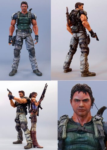 Resident Evil 5 Play Arts Kai Deluxe Action Figure-9' Chris Redfield