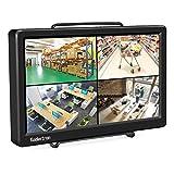 Koolertron 10.1' Écran FHD IPS Moniteur d'Affichage HDMI VGA Full HD Résolution 1920 x 1080 pour Raspberry Pi 3/PS3/PS4/Will U/Xbox 360/One/Mac mini/PC/Caméra DVD Domicile Bureau CCTV