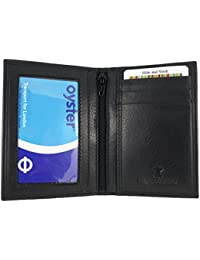 Slimline Soft Leather RFID Credit Card Wallet/Travel/Holder with Twin ID Windows