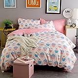 Sucastle Bettwäsche Eine Vierköpfige Familie Fashion Bedding,Cotton,Bed width:180cm