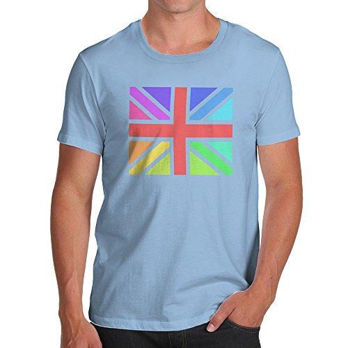 TWISTED ENVY Rainbow Union Jack Men's Novelty Cotton T-Shirt