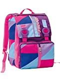 Doubling backpack SEVEN - PSYCHEDELIC GIRL - Expandable with VARIANT SYSTEM Rose Blue - 28 liters school student
