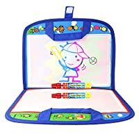 Rangebow Aqua Magic Water Doodle Drawing Travel Bag Mat and Magic Pens for Kids 2 Years Plus Toddlers Toy Take Me Anywhere SM