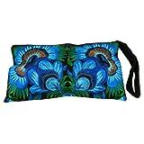 BTP! HMONG Wristlet Clutch Hill Tribe Ethnic Embroidered Bag Hippie Boho Hobo Blue Floral Large HMW1