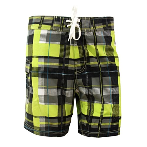 Madhero Herren Badeshort Yellow Plaid