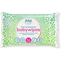 Mum & You 100% Biodegradable Hypoallergenic & Dermatologically Tested Baby Wipes, Wet Wipes, 98% Water, 0% Plastic, Pack of 12, (672 Wipes in Total).