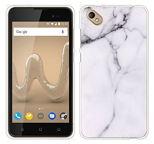 Für Wiko SUNNY 2 PLUS Hülle Silikon,Sunrive Handyhülle Schutzhülle Etui Case Backcover für Wiko SUNNY 2 PLUS 5,0 Zoll(tpu Marmor Weißer)+Gratis Universal Eingabestift
