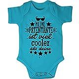 Mikalino Babybody Kurzarm Meine Patentante ist Viel Cooler als Deine v2, Farbe:Atoll, Grösse:68