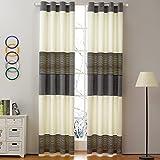 gwell rayas degradado cortinas cortina cortina opaca con ojales para salón dormitorio de 1er Pack, tela, gris, 140x245 (HxB), Stück x1