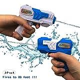 Ziwing Pack de 2 Superbes Jets d'eau pour Pistolet Pistolet à Eau pour Adultes, Enfants, été Chaud, Pistolet à Eau, Jouets 2019 Nouveau