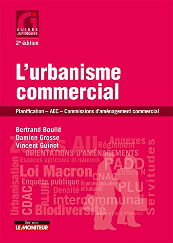 L'urbanisme commercial: Planification - AEC - Commissions daménagement commercial par Vincent Guinot, Damien Grosse, Bertrand Boullé