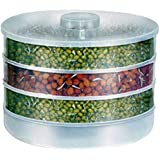 ZOSOE Plastic Sprout Maker with Container - 500ml, Sprout Maker, 4 Bowl , White