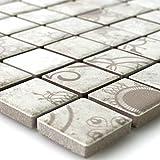Keramik Mosaik Fliesen Laceo Grau