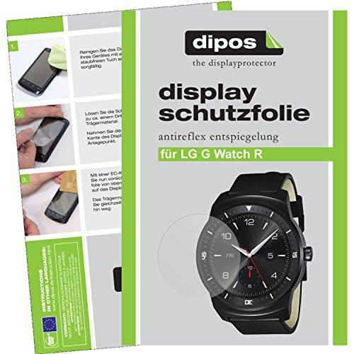 dipos LG G Watch R Schutzfolie (6 Stück) - Antireflex Premium Folie matt