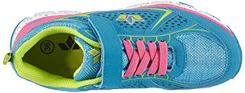 Lico Rainbow V, Chaussures spécial sport en salle pour fille Bleu (tuerkis/pink/lemon)
