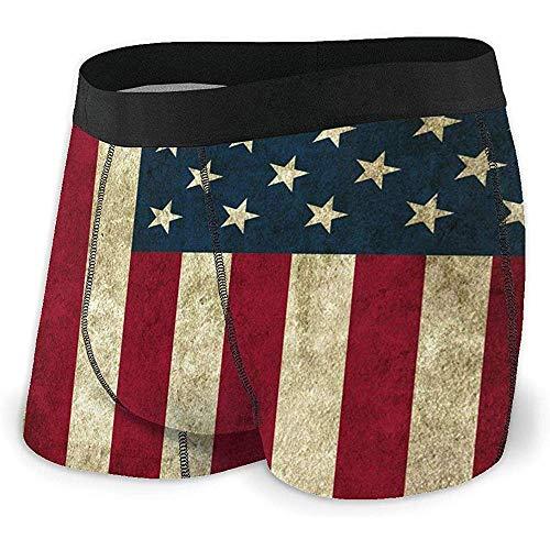 Web--ster Amerika Flagge zurück Vintage Boxershorts weiche Baumwolle atmungsaktiv Keine fahrt bis Underwear für männer größe XL